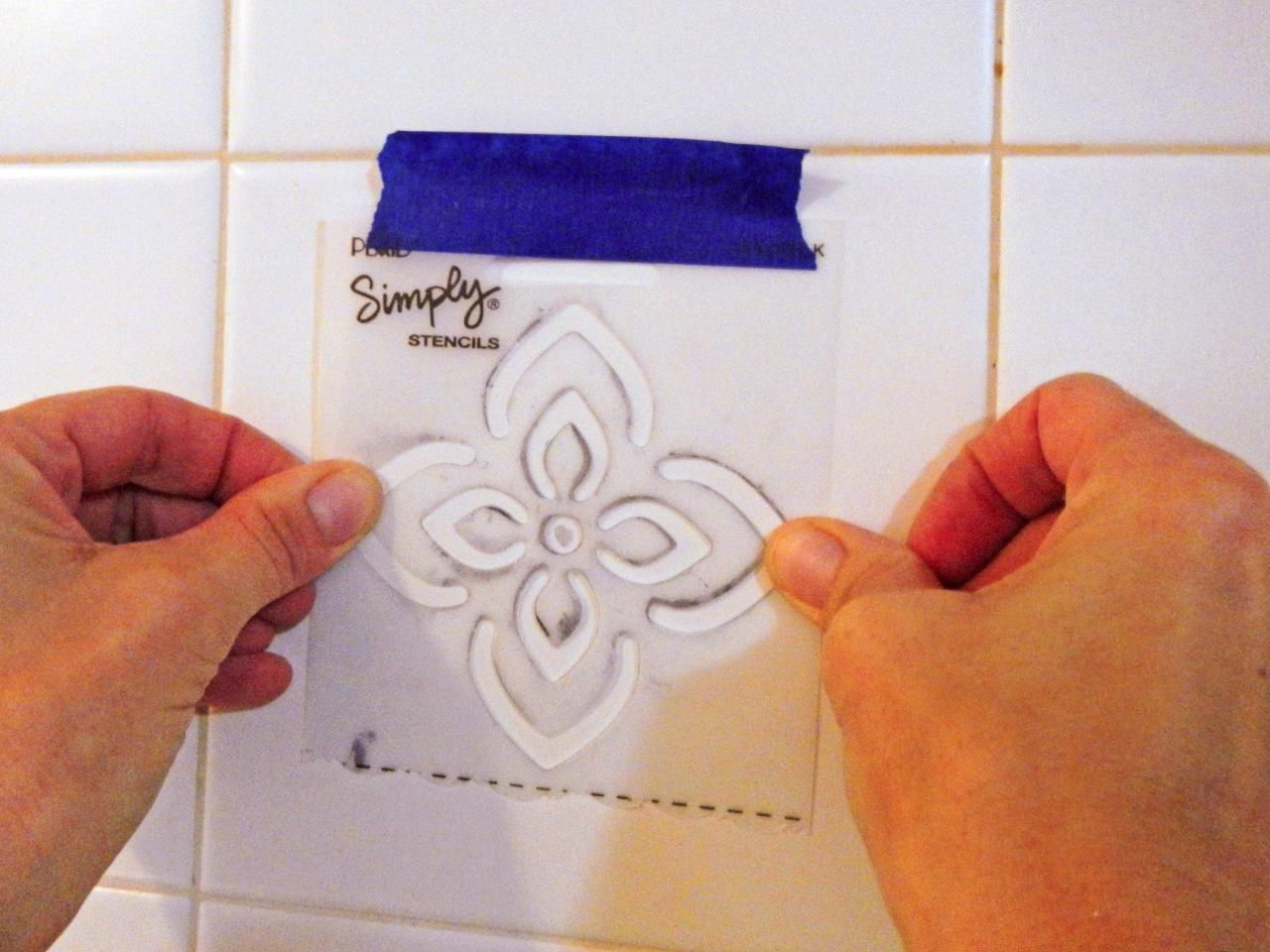 How to paint backsplash tile diy network moroccan and stenciling how to paint backsplash tile dailygadgetfo Choice Image