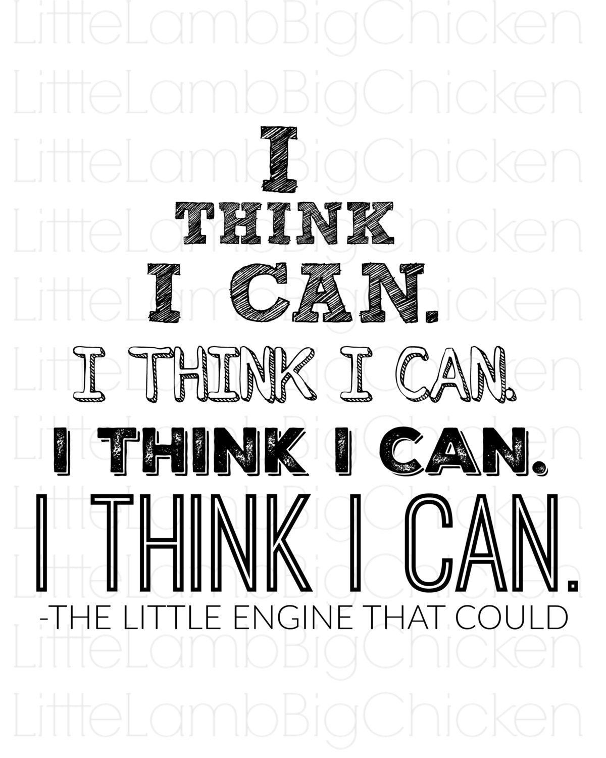 I Think I Can I Think I Can I Think I Can I Think I Can