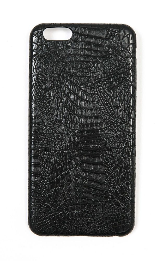 Showpo Folk This iphone 6 cover in black croc Technology