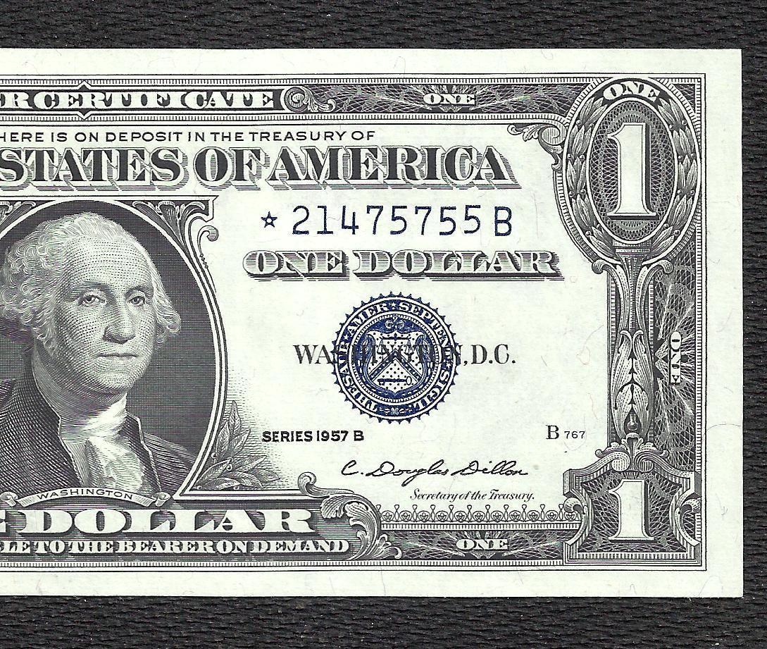 Coins 1957b 1 Silver Certificate Star Crisp Choice Au Old Us