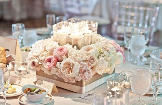 احدث ديكورات تزيين طاولات الاعراس Flower Centerpieces Wedding Wedding Reception Centerpieces Wedding Centerpieces