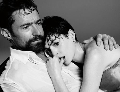 Hugh Jackman and Anne Hathaway photographed by Paola Kudacki for Time Magazine, March 2013.