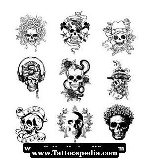 Pin On Cute Simple Skull Tattoo Designs