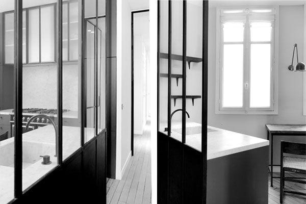 loft appartement haussmannien le travail de nicolas schuybroek cloison en verre cloisons. Black Bedroom Furniture Sets. Home Design Ideas