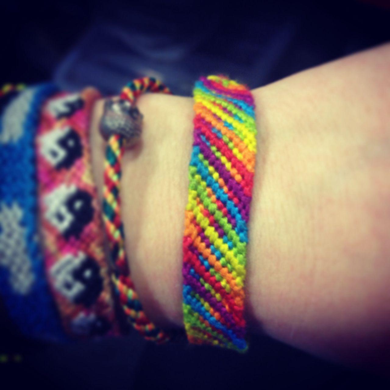 Rainbow friendship bracelet pattern number for more patterns