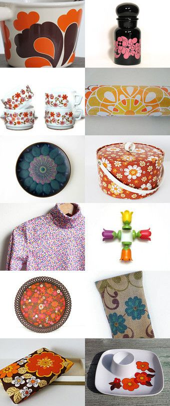 Thank you for featuring my turtle neck top and eyewear case! 70s Flower Power by Nathalie de Barstch on Etsy