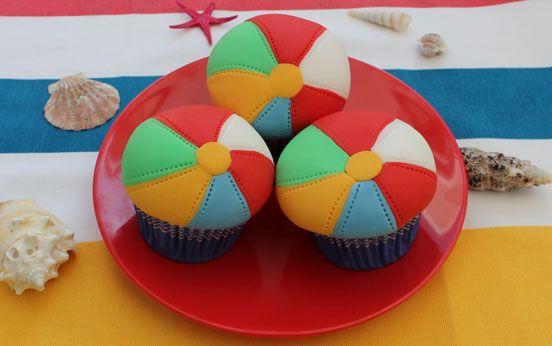 Beach Ball Cupcakes Recipe Beach Ball Cupcakes Beach Ball