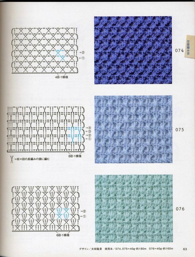Pin de Elvy en Crochet | Pinterest | Puntos, Puntos crochet y Ganchillo