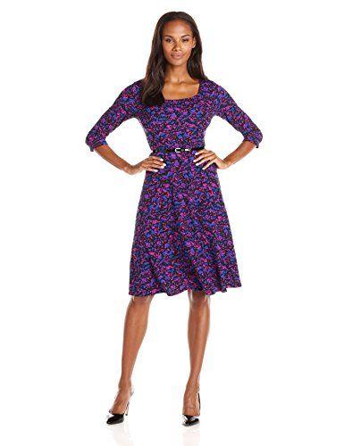 Kasper Women's Printed Scoop Neck Drop Waist Dress  Kasper Women's Printed Scoop Neck Drop Waist Dress 17 inch  http://www.artydress.com/kasper-womens-printed-scoop-neck-drop-waist-dress/