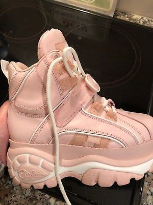 Buffalo London plateau pink   Buffalo boots, Buffalo shoes