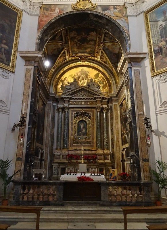 Santa Maria Della Pace Rome The High Altar Was Installed In 1614