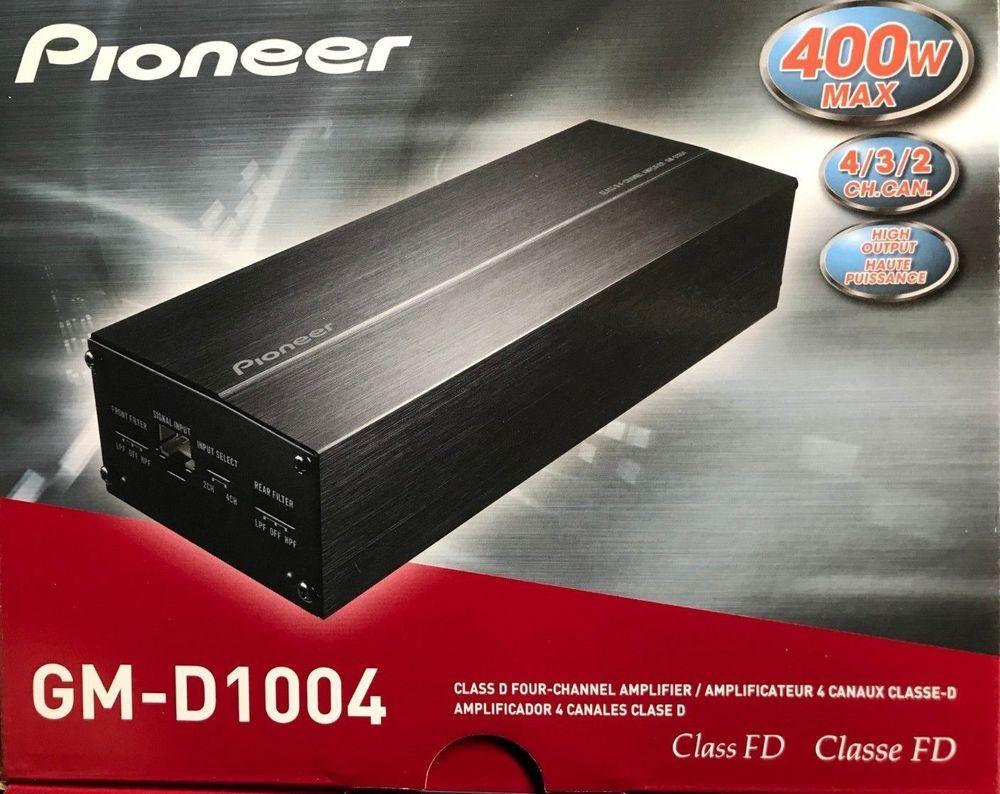 Pioneer GM-D1004 400W 4-Channel GM Digital Series Class FD ...