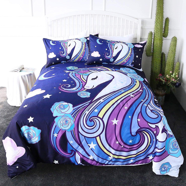 Unicorn Duvet Cover Unicorn duvet cover, Bed, Home