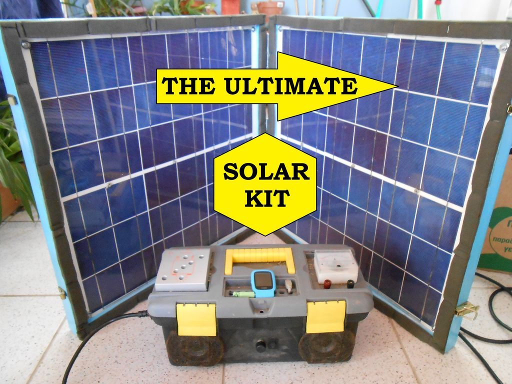Backup Energy Saver All In One Kit Powered From A Folding Mobile Solar Panel Solar Energy Panels Solar Kit Solar Projects