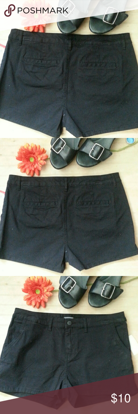 NWT Black Shorts Wardrobe staple!  Little black cotton shorts. These have some stretch and hit the upper thigh.  98% cotton / 2 % spandex Joe Boxer Shorts