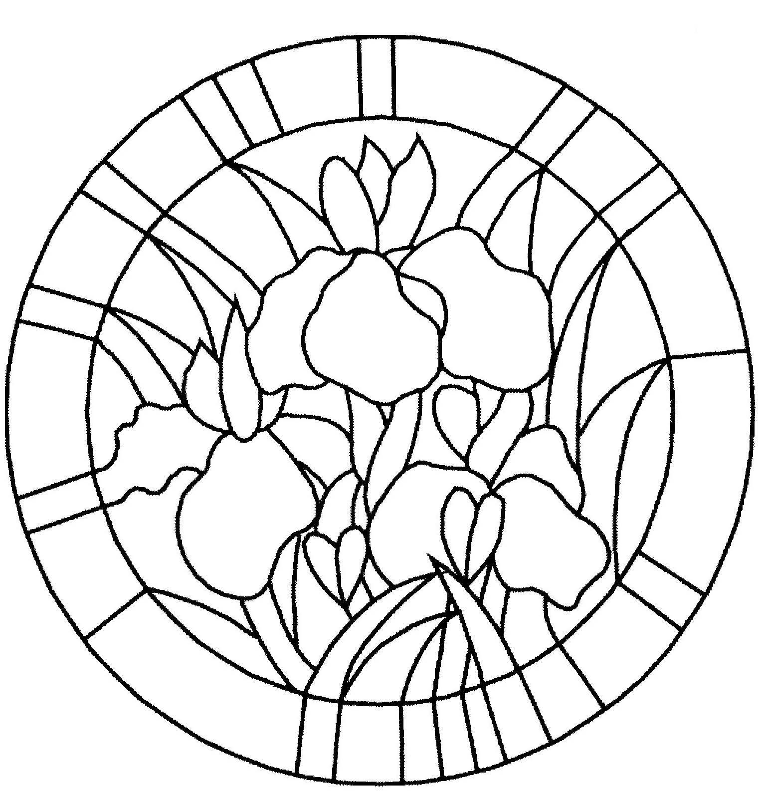 Coloriage bouquet de fleur projets vitrail pinterest - Oeil a colorier ...