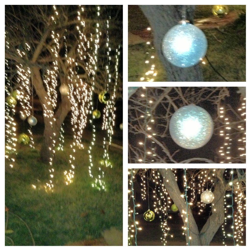 Raining Light Tree With Giant Sparkly Balls Fab