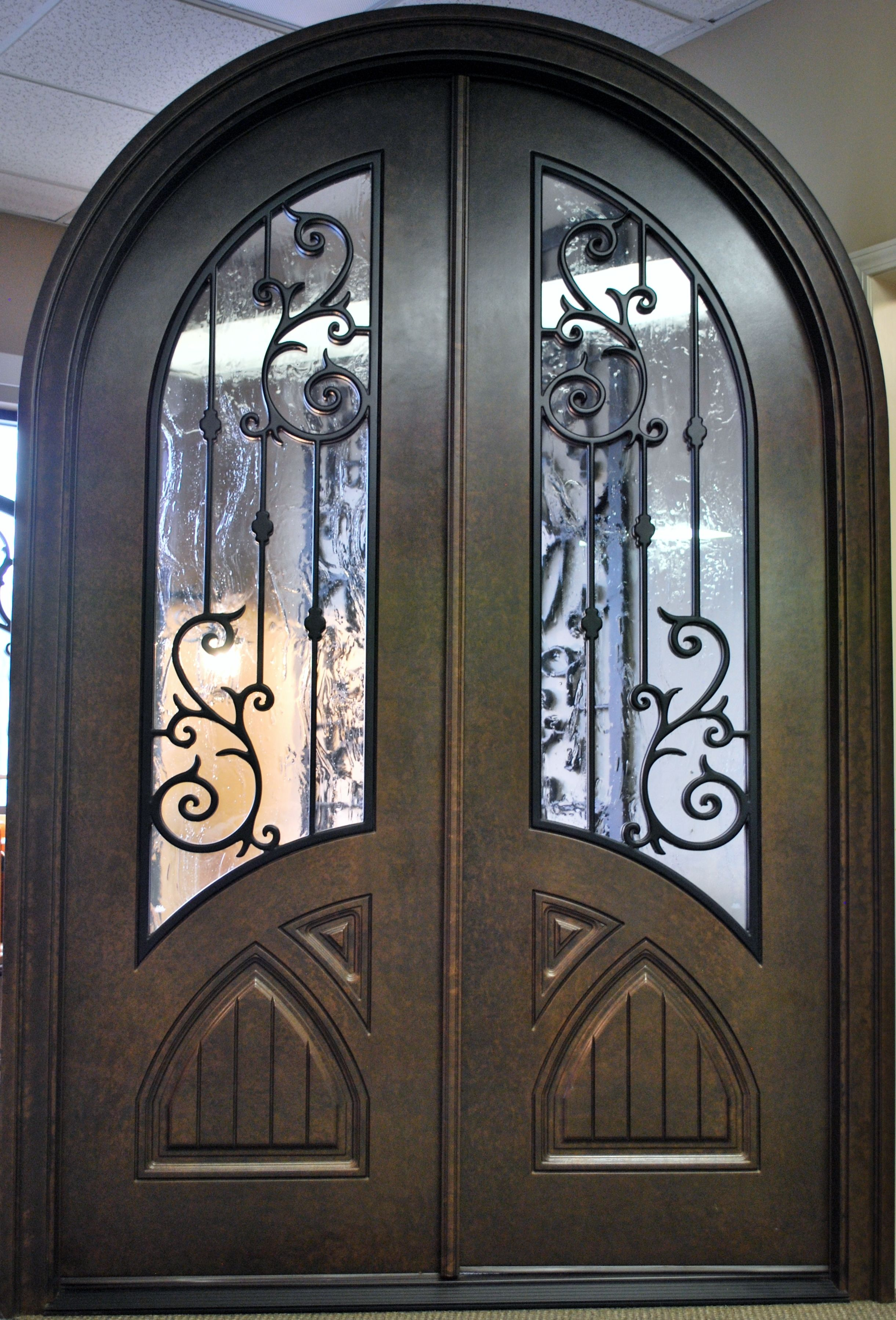 Double Front Entry Doors Orleans Panel Design Uninstalled