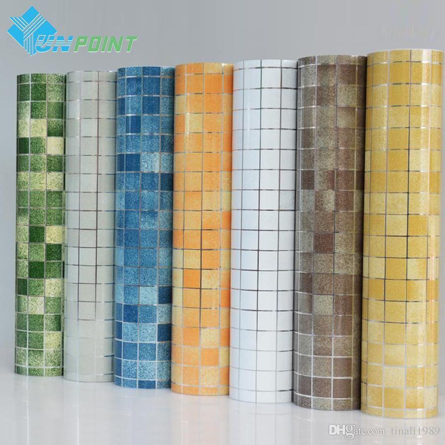 - Kitchen Wall Sticker PVC Mosaic Tile Wallpaper Bathroom Walls