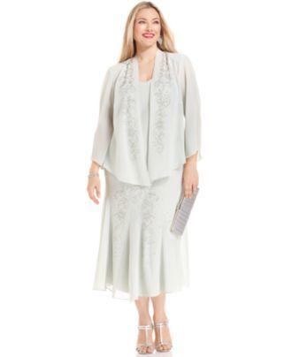 Vintage Beaded Evening Jacket Women's Plus Size