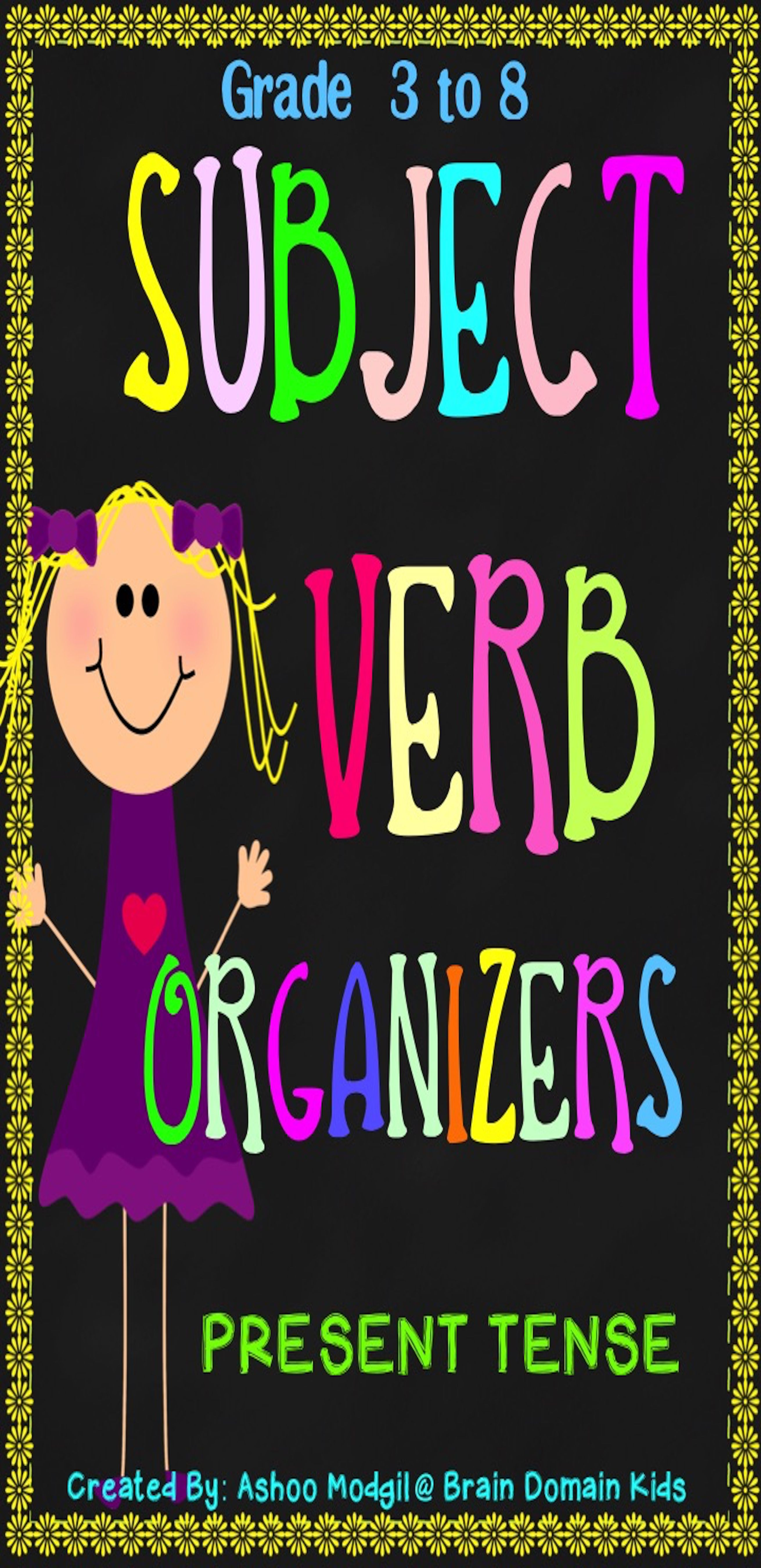 Subject Verb Agreement Organizers Are Great For Review Practice And Assessment Of Subject Verb