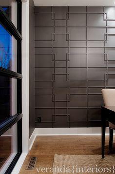 Altadore {one} Study feature wall detail // Veranda Estate Homes #fretwork #wall…