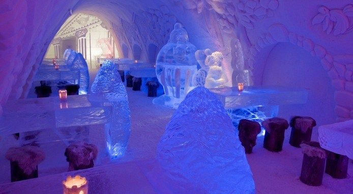 Finlands Snow And Ice Castle Restaurant Lets Go See The World