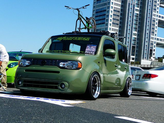 Nissan Cube I Like The Green Color Would Love To Get My Silver Refinnished In Purple