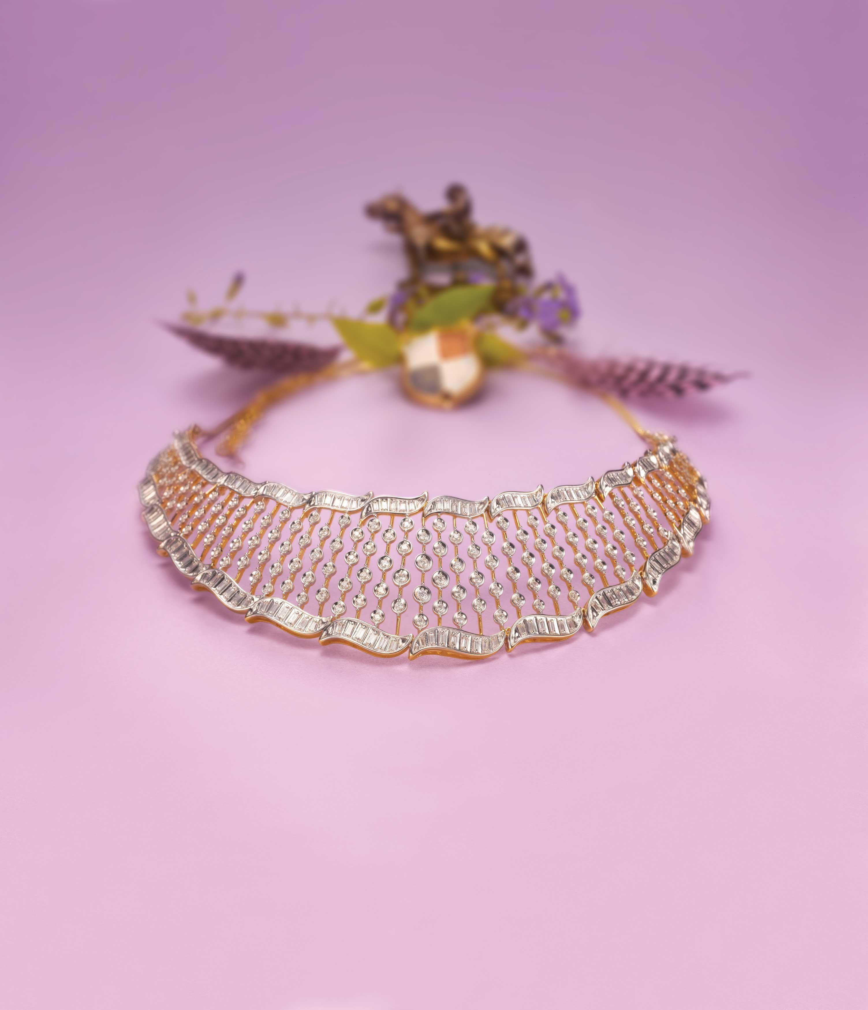 Diamond necklace indiandiamondnecklace radiant necklaces