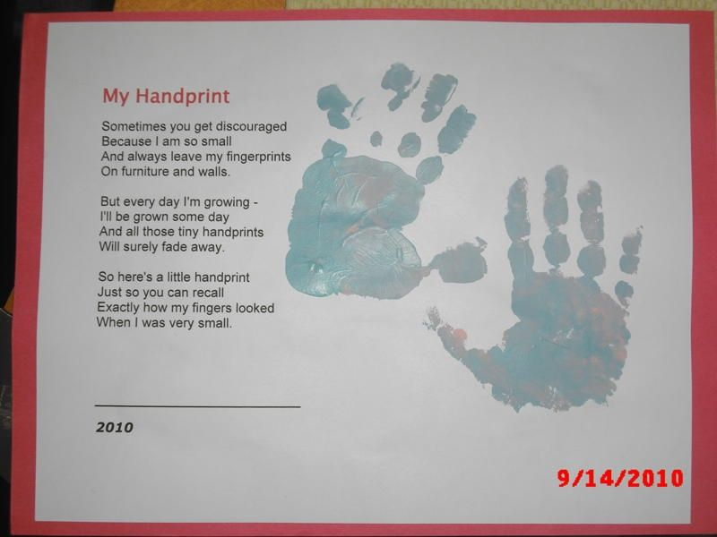 Baby Craft Ideas For Christmas Part - 39: Handprint Keepsake - Have Always Loved This Little Poem. Toddler Crafts, Baby  Crafts, Kids ...