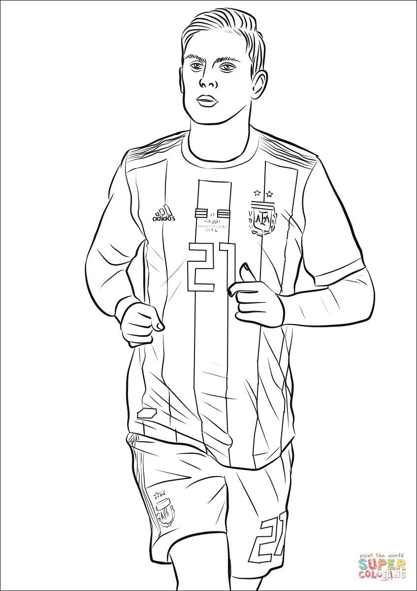 paulo dybala  super coloring  dibujos de futbol dibujos