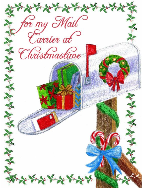 Christmas Card for Mail Carrier Postman Postmaster Mailman ...