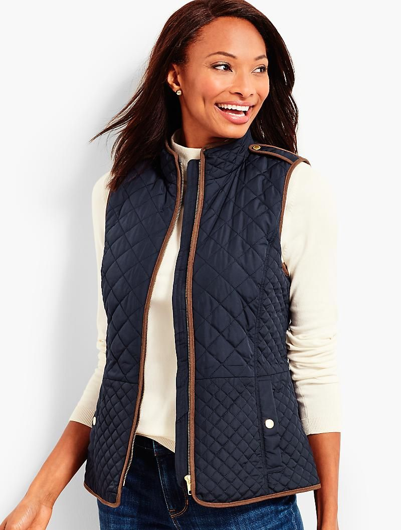 Quilted Barn Vest Talbots Jackets For Women Fashion Outerwear [ 1057 x 800 Pixel ]
