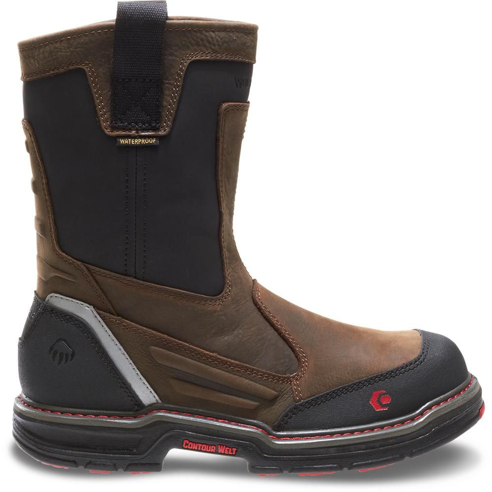 ab84e9a9077 Wolverine Men's Overman Size 14EW Brown Full-Grain Leather ...