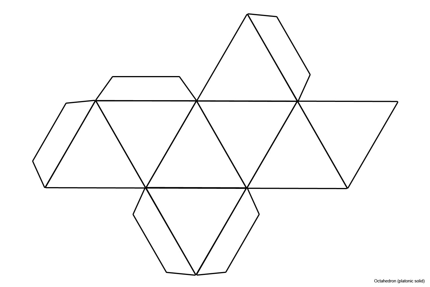 octahedron template - Google Search | Foldables for Math - photo#32