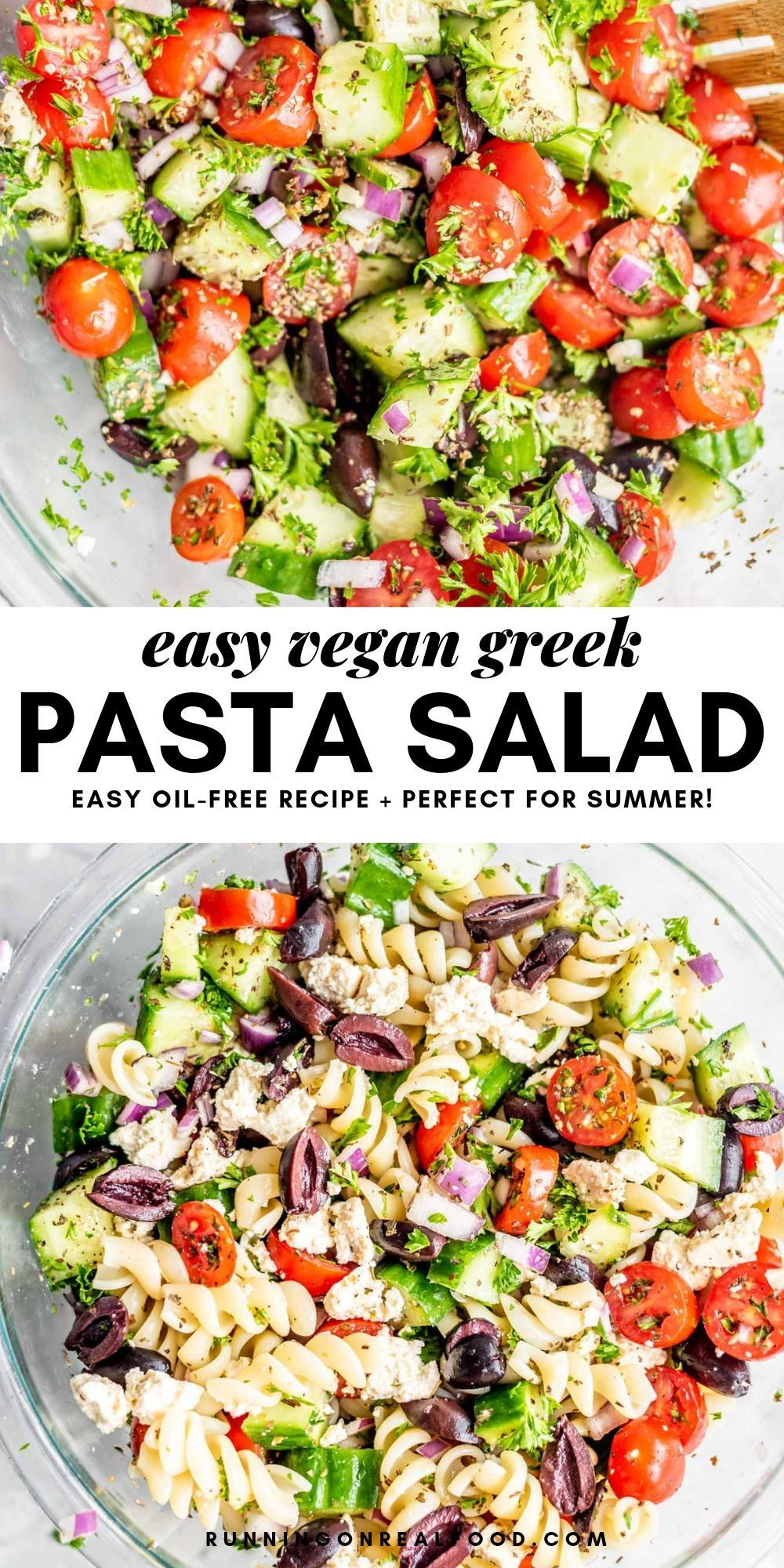 Vegan Greek Pasta Salad