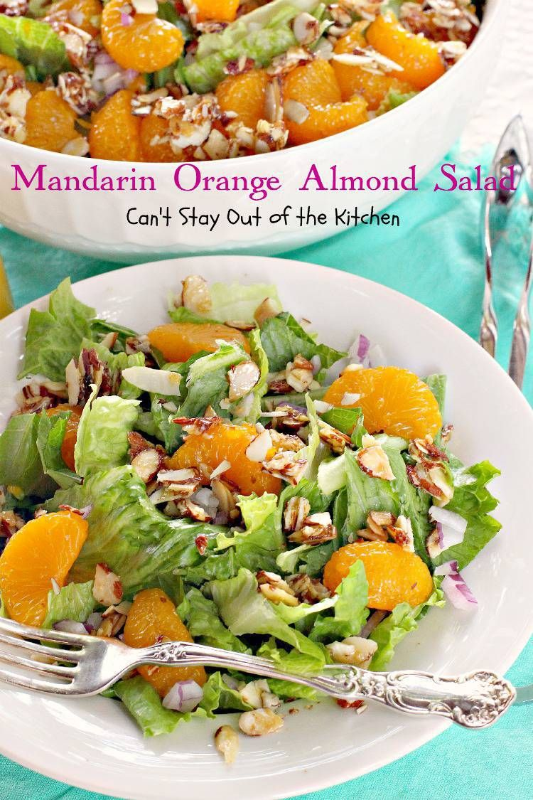 Mandarin Orange Almond Salad | Recipe | Orange salad ...