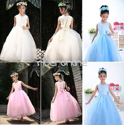 Flower-Girl-Pageant-Party-Wedding-Bridesmaid-Princess-Kid-Formal-Ball-Gown-Dress