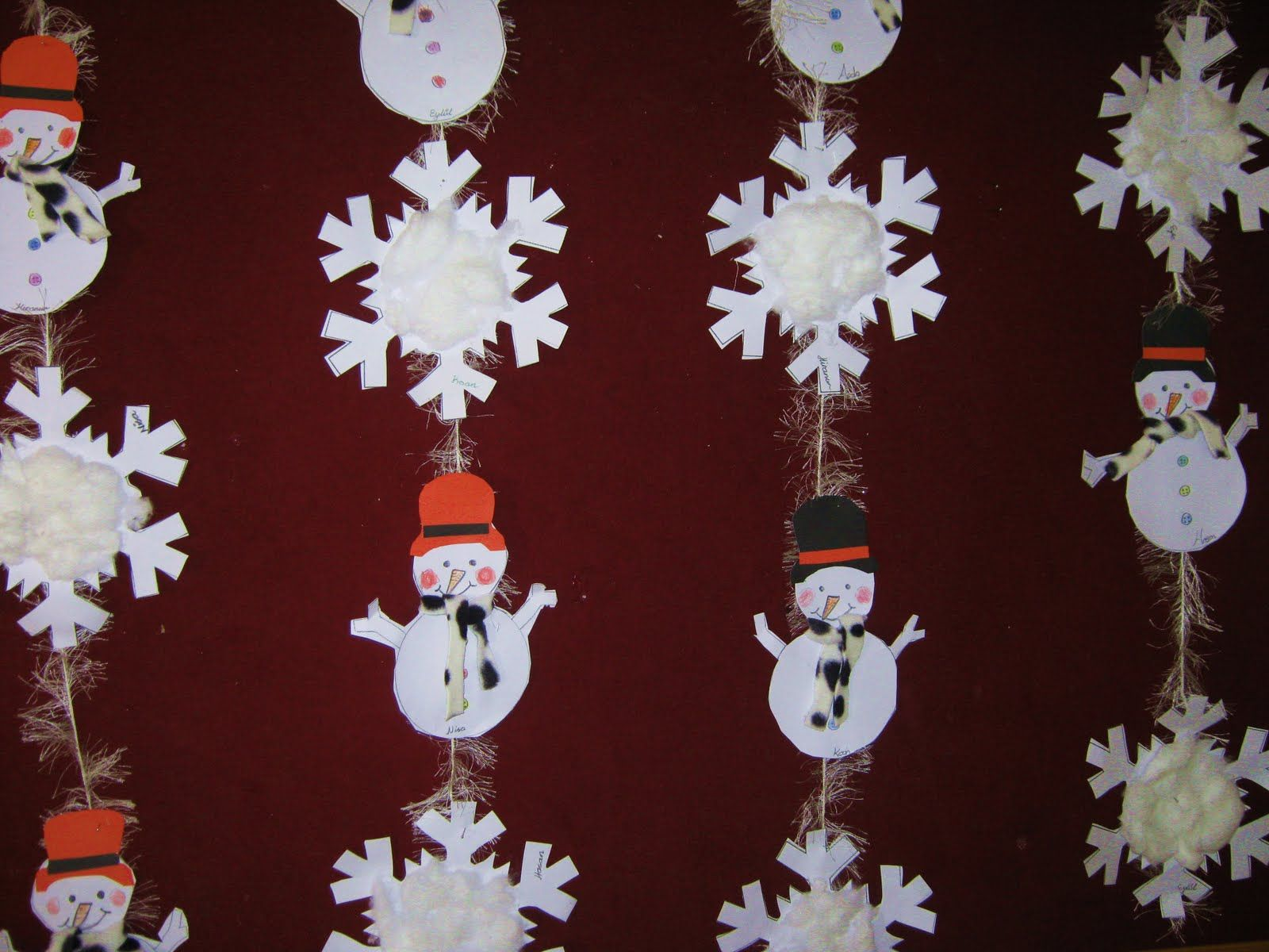 Snowflake Craft Idea For Kids