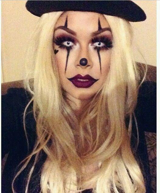 clown, creepy, diy, halloween, halloween makeup, make up, makeup ...