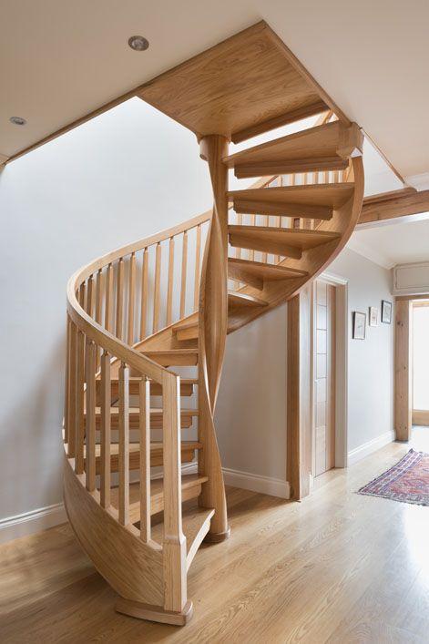 Best Bespoke Wooden Spiral Staircases Spiral Stairs Design 400 x 300