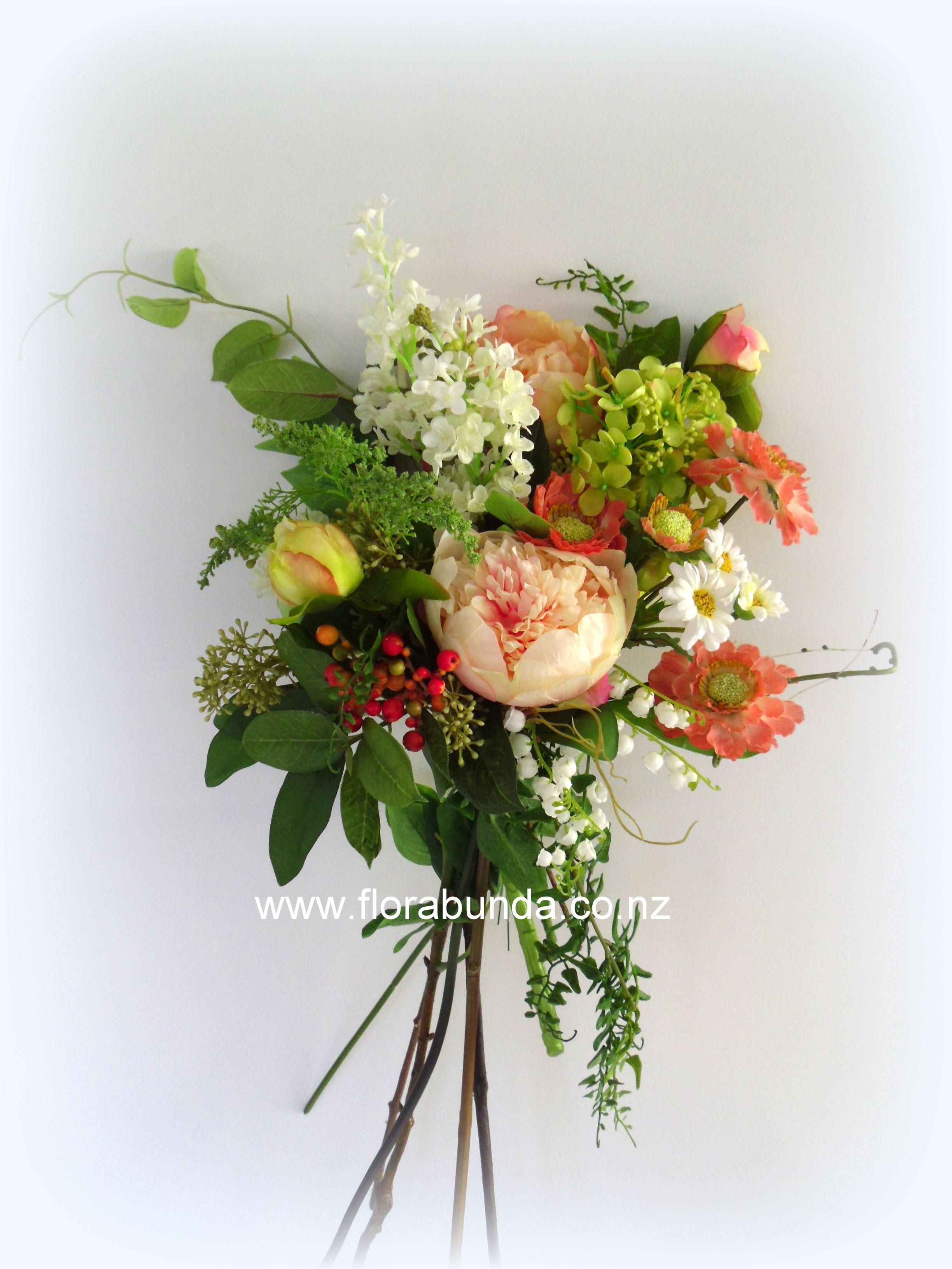Boho Bouquet In Fabulous Artificial Flowers Bright Colour Silk