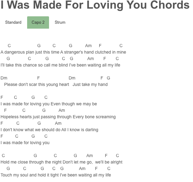 I Was Made For Loving You Chords Ed Sheeran, Tori Kelly | Once Upon ...