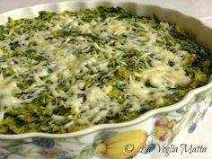 tortino di polenta con spinaci e asiago