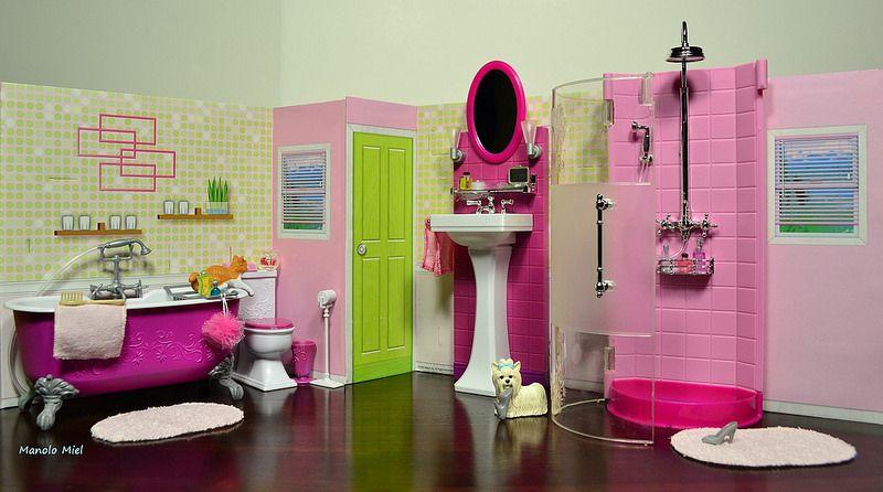 Complete Barbie Bathroom Playset : )