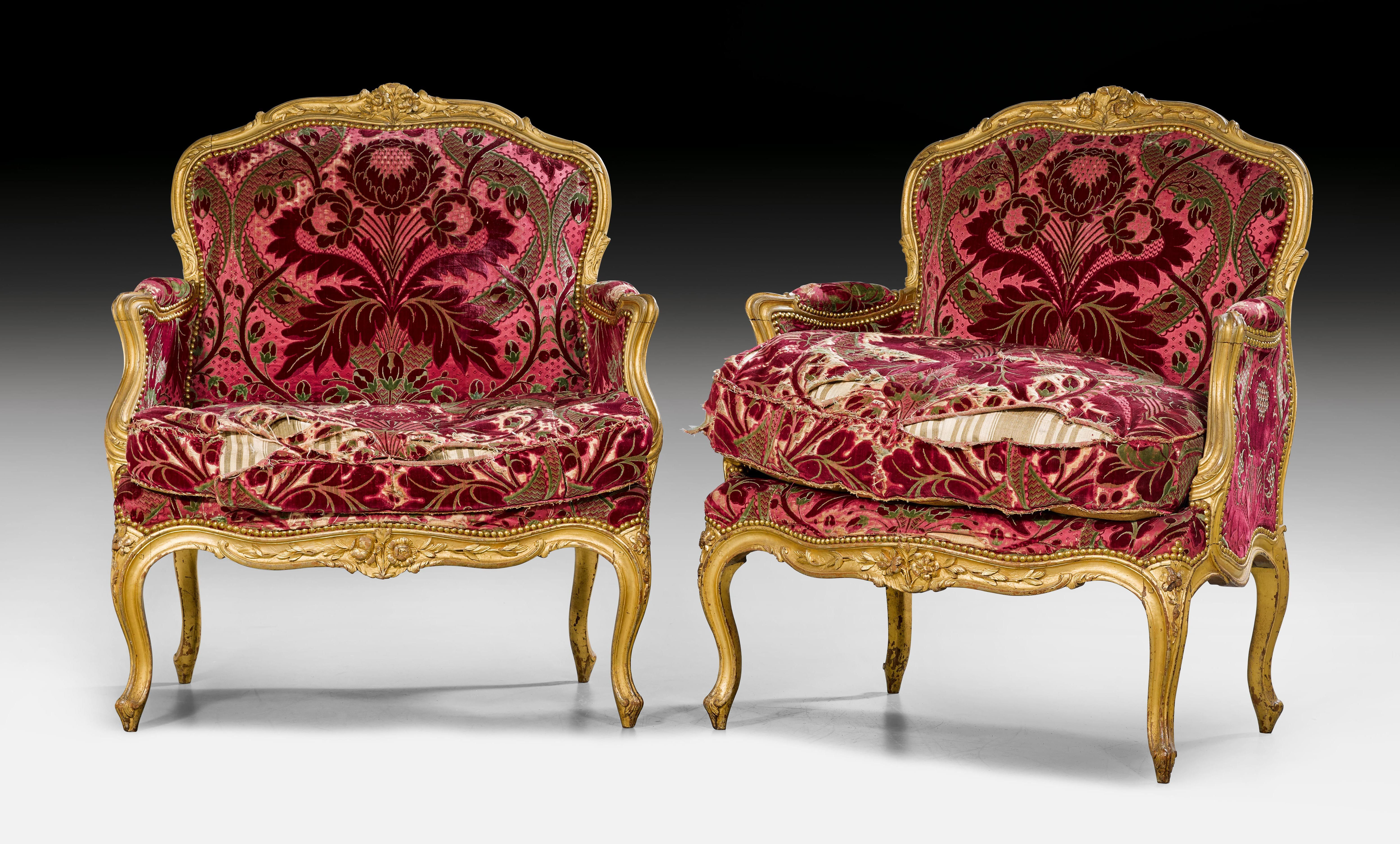C1755 60 Pair Of Marquise Fauteuils Louis Xv Attributable To J B Boulard Jean Baptiste Boulard Maitre 1754 Paris Ca 1755 Louis Xv Louis Easy Chair