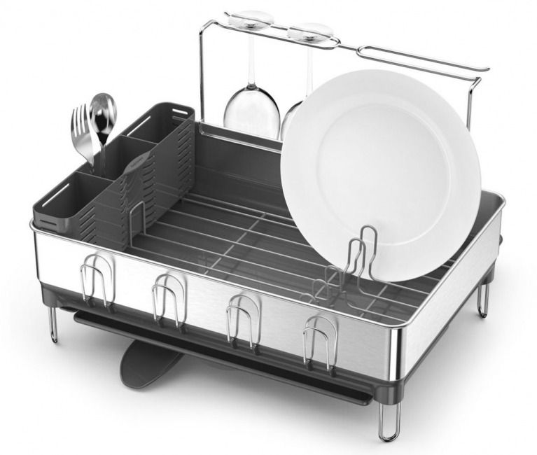 Best Simplehuman Steel Frame Dish Rack With Swivel Spout 640 x 480
