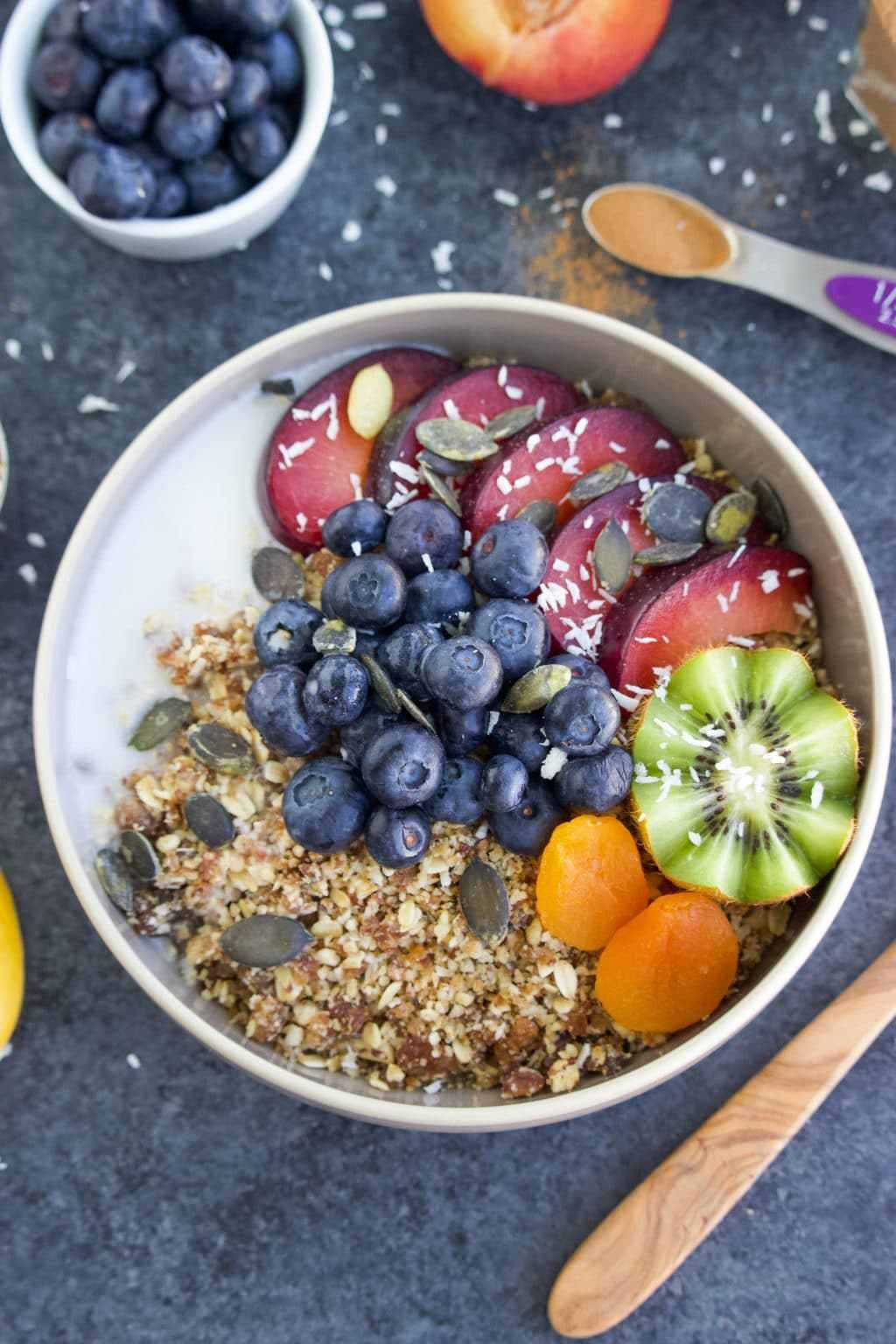 Easy Vegan Breakfast Superfood Stone Fruit Rawnola