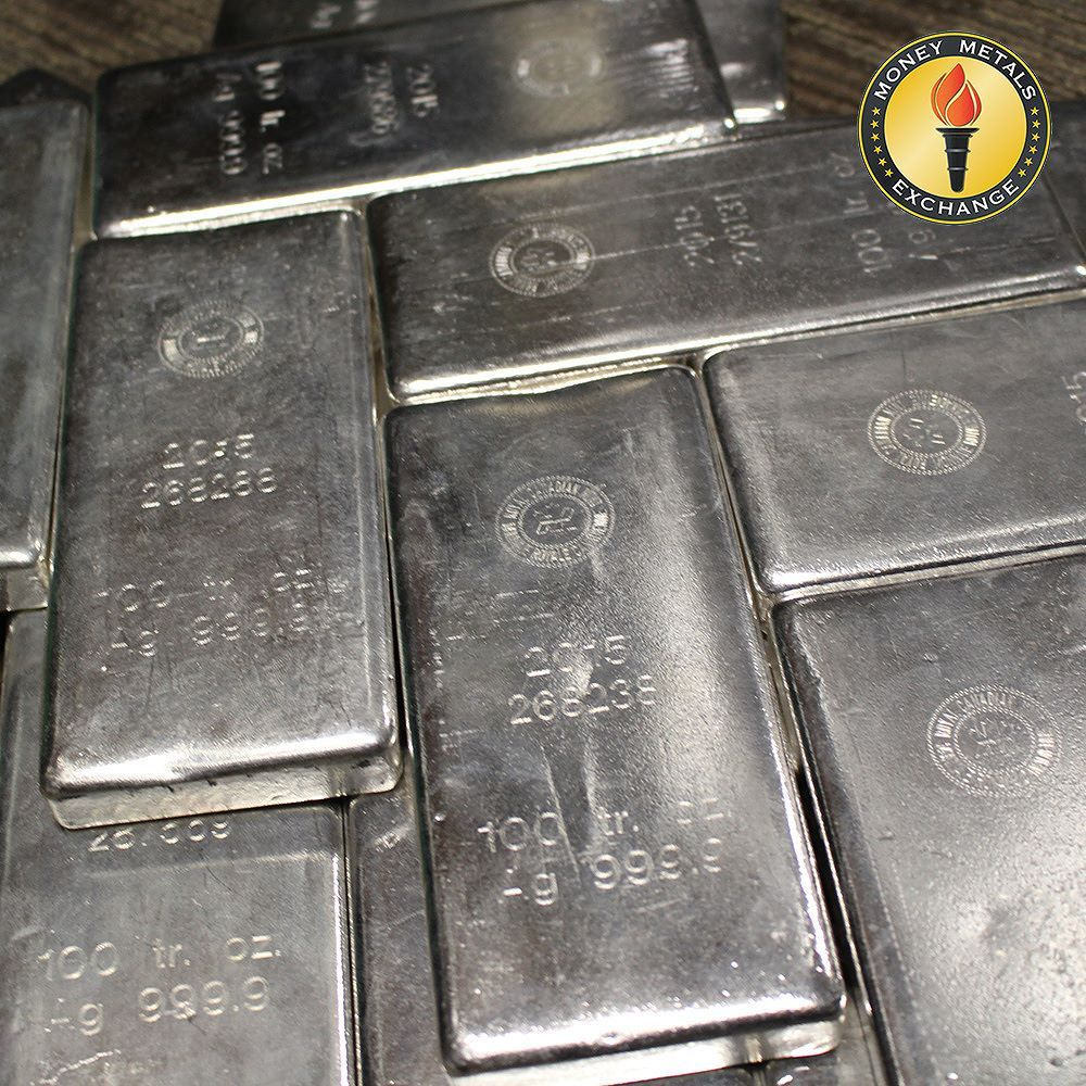 100 Oz Silver Bars For Sale 100 Troy Weight Bullion Money Metals Exchange Silver Bars Silver Bullion Coins For Sale