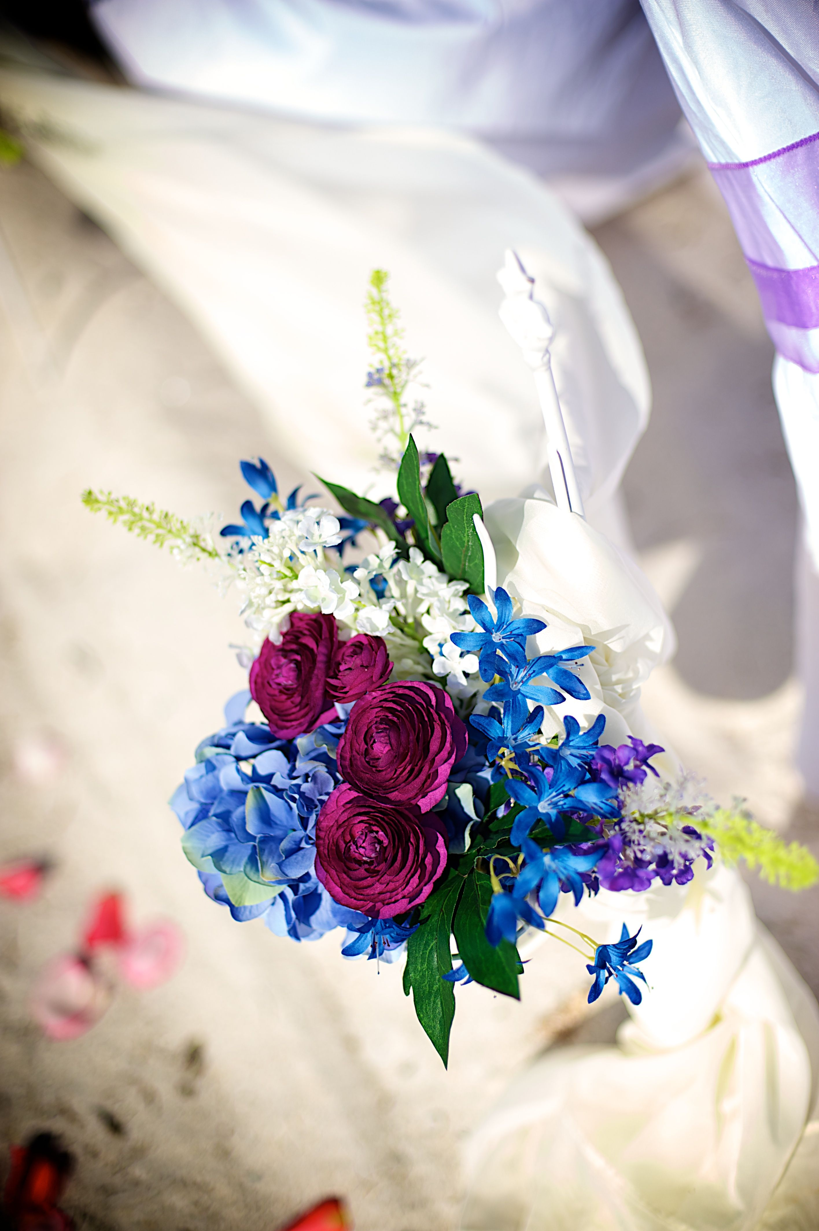 Purple and blue wedding decor  purple blue beach wedding decor  Beach Wedding Canopies u Chuppas